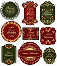 Christmas vintage labels Stock Images