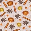 Christmas vintage seamless pattern