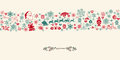 Christmas vintage seamless pattern background wrapping paper Royalty Free Stock Image