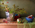 Christmas vintage still life Stock Photos
