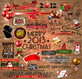 Christmas Vintage typograph design elements Royalty Free Stock Photo