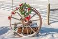 Christmas Wagon Wheel