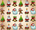 Christmas Wallpaper with Various Design Elements Royalty Free Stock Photos