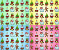 Christmas Wallpaper with Various Design Elements Stock Photos