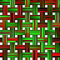 Christmas weave pattern Royalty Free Stock Photography