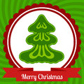 Christmas web banner design greeting poster with tree Stock Image