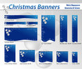 Christmas web banners Royalty Free Stock Images