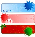 Christmas Web Banners Royalty Free Stock Photo
