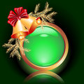 Christmas web button Royalty Free Stock Photo