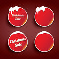 Christmas web buttons set. winter web buttons Royalty Free Stock Photo
