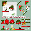Christmas web elements Royalty Free Stock Photos