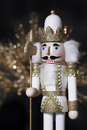 Christmas White Gold Nutcracker Royalty Free Stock Photo