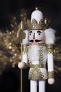 Christmas White Gold Nutcracker Royalty Free Stock Photo