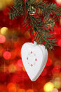 Christmas white heart Royalty Free Stock Images