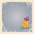 Christmas / winter background with jingle bell Royalty Free Stock Photography