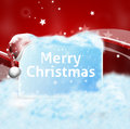 Christmas winter design with blue white snow Stock Images