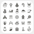 Christmas and winter icons set vector eps don t use transparency Stock Photography