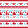 Christmas, Winter knitted pattern, card Stock Photos