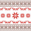 Christmas and winter norwegian seamless pattern vector illustration Stock Image