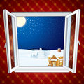 Christmas winter scene Royalty Free Stock Photo