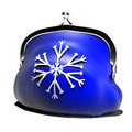 Christmas winter snowflake d visualization idea of holidays Stock Photo