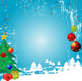 Christmas Winter Vector Backgr Stock Photography