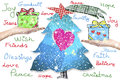 Christmas wishes greeting card Royalty Free Stock Photo