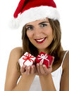 Christmas woman Stock Photos