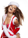 Christmas women Stock Image