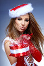 Christmas women with gifts Royalty Free Stock Photography