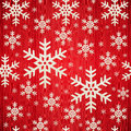 Christmas wooden snowflakes pattern Stock Photography