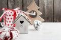 Christmas wooden vintage bird house