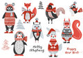 Christmas woodland Animals Cute Forest.