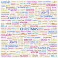 Christmas word cloud concept illustration wordcloud collage Stock Photos