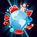 Christmas world vector Royalty Free Stock Photo