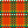 Christmas woven pattern seamless Stock Images