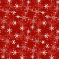 Christmas wrapping paper pattern red background with snowflakes Royalty Free Stock Image