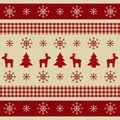 Christmas wrapping paper with reindeers, xmas trees and snowflakes. Bright Christmas texture for wallpaper, web banner, print. Win Royalty Free Stock Photo