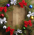 The Christmas Wreath Stock Images
