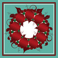 Christmas Wreath Background Stock Photography