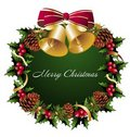 Christmas wreath background Royalty Free Stock Image