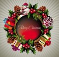 Christmas wreath background Royalty Free Stock Photo