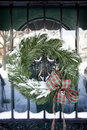 Christmas Wreath covered with snow Royalty Free Stock Photography
