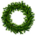 Christmas wreath without decoration empty of pine branches isolated on white background qualitative vector eps illustration for Royalty Free Stock Photography