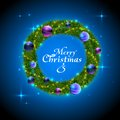 Christmas wreath decorative background holiday Stock Images
