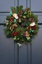 Christmas wreath door christmas wreath traditional english Royalty Free Stock Images