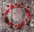 Christmas Wreath Of Fir Branch...