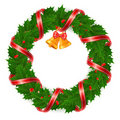Christmas wreath of holly Stock Image