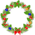 Christmas Wreath insulated Stock Photography
