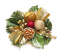 Christmas wreath isolated on white Royalty Free Stock Photo